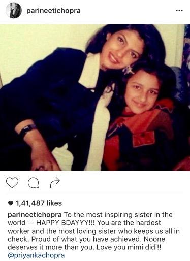 Parineeti Chopra S Birthday Wish For Priyanka Chopra Is So Cute